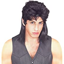 Rubie's Costume Humor Black Mullet Shoulder Length Wig