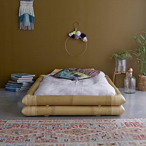 Tikamoon 2216 Balyss Cama futón bambú Beige 116 x 216 x ...