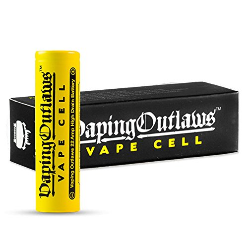 Vaping Outlaws Vape Cell 18650 25A 2500mAh Battery - Fits: Smok Alien Kit...