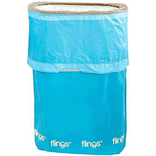 amscan Caribbean Blue Flings Pop-Up Trash Bin