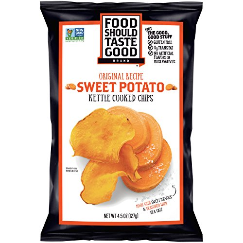 Food Should Taste Good, Sweet Potato Chips, Kettle Chips, 4.5 oz by Food Should Taste Good