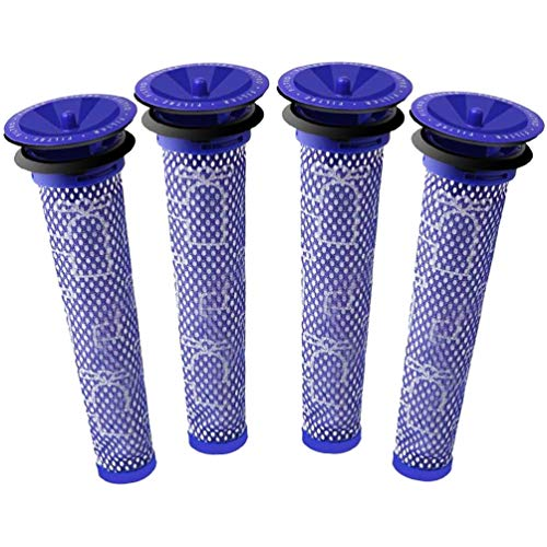 eQFeast 4 Pack Compatible Pre Filter Replacement for Dyson DC58 DC59 V6 V7 V8 Cordless Vacuum Cleaners,Washable Pre Motor Filters Replaces Part # 965661-01