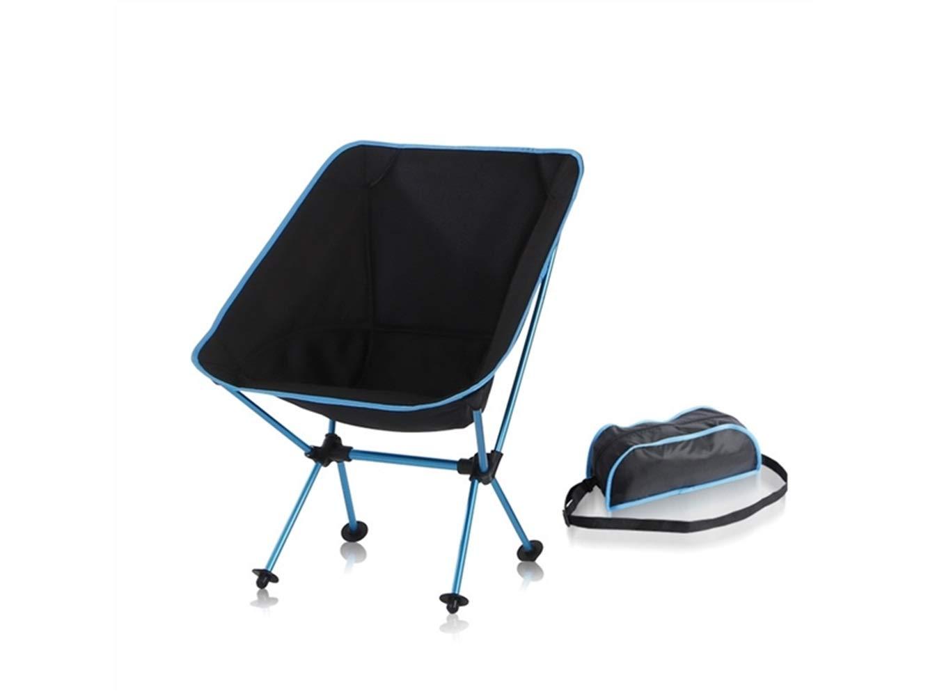 LMKIJN Bequemer Stuhl Tragbare Klapp Angeln Stuhl Recliner Camping Stuhl für Outdoor und Angeln (blau) für den Urlaub