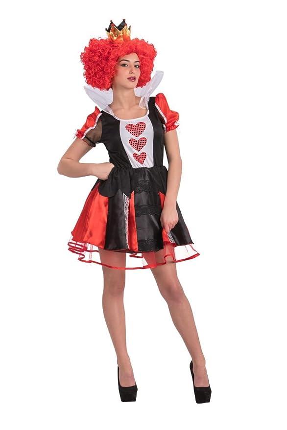 Carnival Toys 82079 Reina de Corazones Disfraz con Corona, tamaño ...
