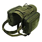 dog pack vest - PET ARTIST Waterproof Tactical Dog Training Harness Vest Travel Camping Hiking Backpack Saddle Bag for Medium Large Dogs