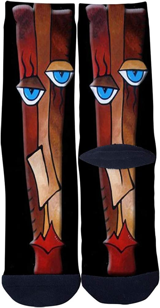 The Smile Art Socks Mens Womens Personality Casual Socks Custom Sports Socks Creative Fashion Crew Socks