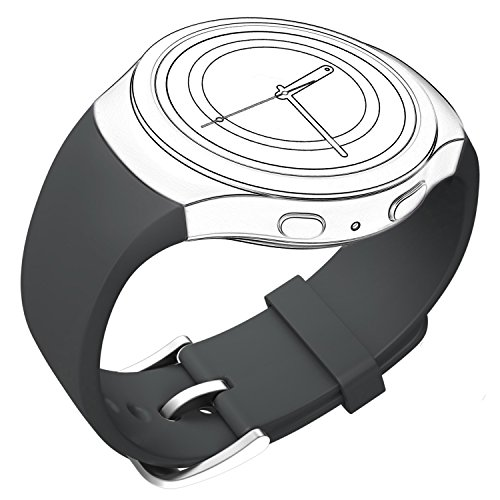 Price comparison product image CoJerk Silicone Watch Band for Samsung Gear S2 - Gray