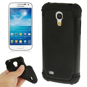 2-color Series Plastic + Silicon Combination Case for Samsung Galaxy S IV mini / i9190 (Black)