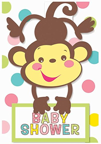 amscan Fisher Price Baby Folded Invitations.]()