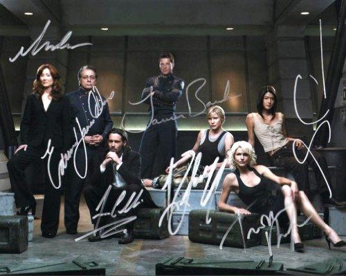 Battlestar Galactica reprint signed full cast photo RP