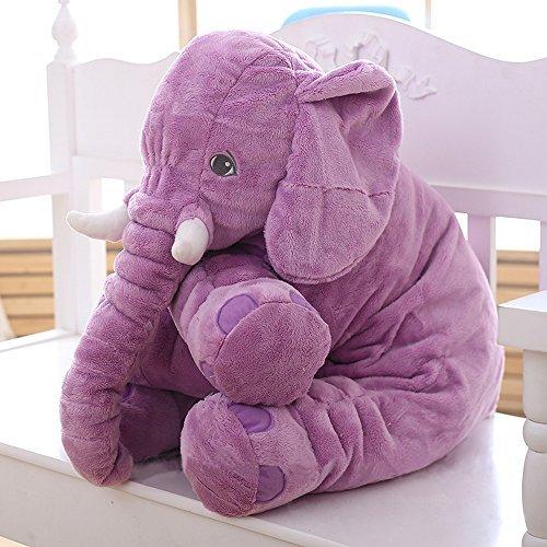 MorisMos Stuffed Elephant Plush Toy Purple 24 Inch