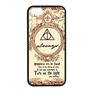 Fashion Harry Potter Hogwarts Apple Iphone 5S/5 Case Cover TPU Laser Technology Deathly hallows map