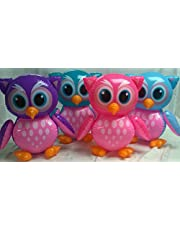 3 Inflate Owls - Colorful Owl Inflatable Decorations and Party Favors - Set of 3 by toyco
