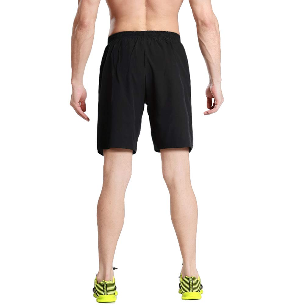 MAGNIVIT Mens Quick Dry Running Shorts with Zipper Pockets Athletic Workout Gym Training Shorts