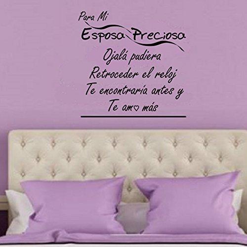 Amazon.com: I Love My Wife Wall Decal Pledge-Espanol Para Mi Esposa Preciosa-a WHITE Vinyl Wall Decal-I Love You More in Spanish-A Happy Marriage-Shes the ...