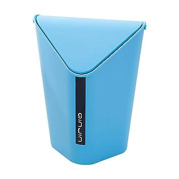 Schwingdeckel Mülleimer Küche Wohnzimmer Büro Mülltonne 4 Liter Küchen-Abfalleimer Aufbewahren & Ordnen