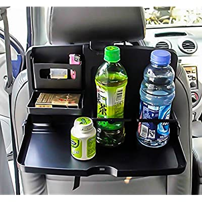 Zone Tech Black Car Food Snack Tray Drink Meal Tray for Car: Automotive