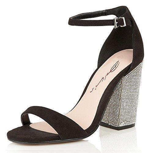 DolcisTiara - Zapatos con tacón mujer Negro - negro