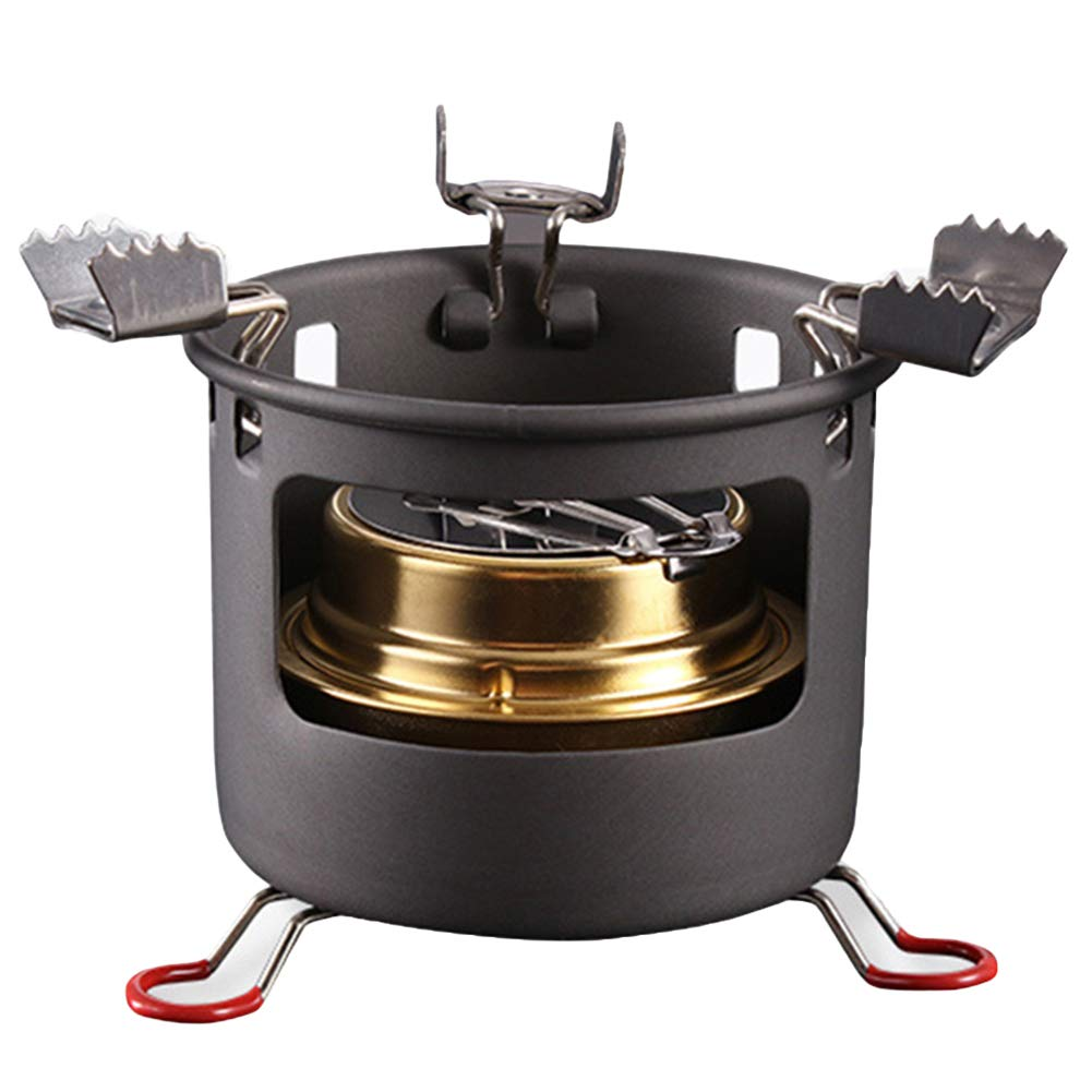w70anFUyjn Alcohol Stove Portable Camping Hiking and Survival Stove Lightweight Trekking Cook Black