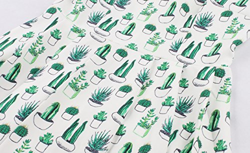Robe Motifs Manche sans Wellwits Green Femme OdqZOH