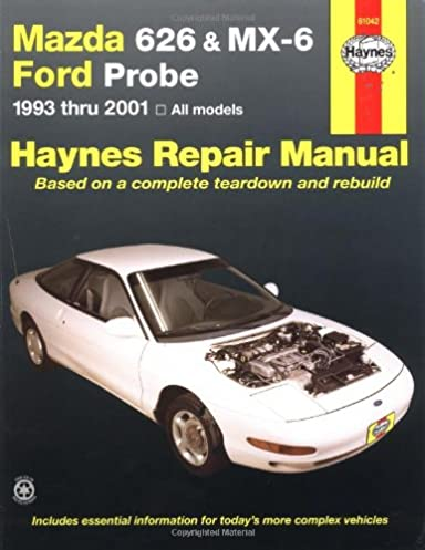 mazda 626 and mx 6 ford probe automotive repair manual 1993 to 2001 rh amazon co uk car repair manual pdf car repair manual ratings