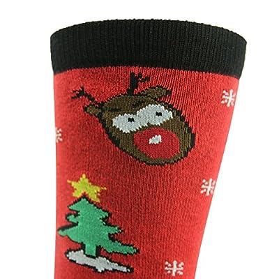 Gmark Unisex Soft Warm Winter Cozy Christmas Socks New Year Gift Socks