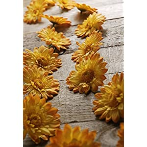 Yellow Gerbera Daisy Garland with 18 Flowers - Excellent Home Decor - Indoor & Outdoor 24