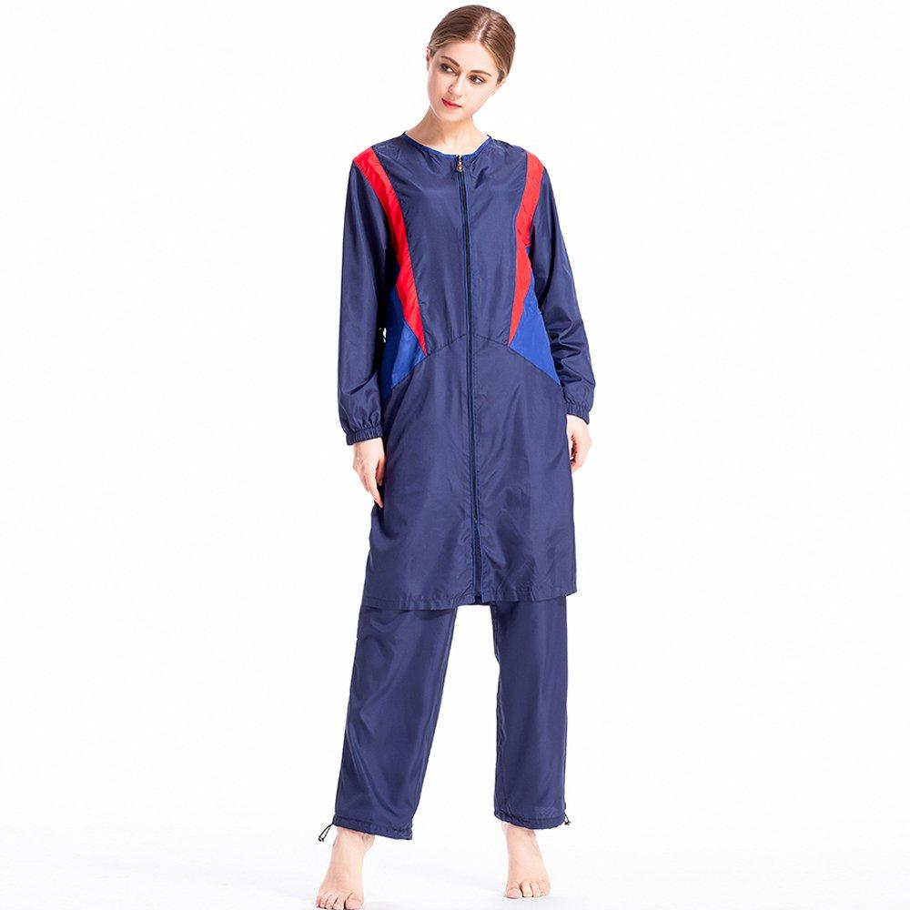 Full-Cover Islamischen Badeanz/üge Muslim Bademode ziyimaoyi Frauen Muslim zur/ückhaltenden Bademode Bescheidenheit Jumpsuit Badeanzug Hijab Badeanzug UPF 50/