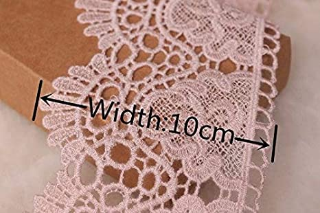 9CM Width Europe Crown Pattern Inelastic Embroidery Lace Trim,Curtain Tablecloth Slipcover Bridal DIY Clothing//Accessories. 4 Yards in one Package Ginkgo