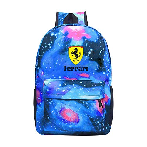 Star School Bag F-E-Rrari LOGO Fashion Satchel Galaxy Backpack for Student Kids Boys Girls (Logo Für Ferrari)