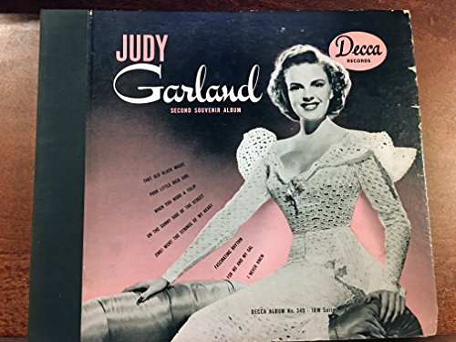 (JUDY GARLAND SOUVENIR ALBUM, Decca 349 (1942) Original 78RPM 4-record set in excellent condition including For Me and My Gal, When You Wore a Tulip, That Old Black Magic, Poor Little Rich Girl, Zing! Went the Strings, Fascinatin' Rhythm, I Never Knew, On the Sunny Side. A rare, early Judy Garland album set in very nice condition. CD transcription recording of all eight sides (4 78rpm) included free of charge.)