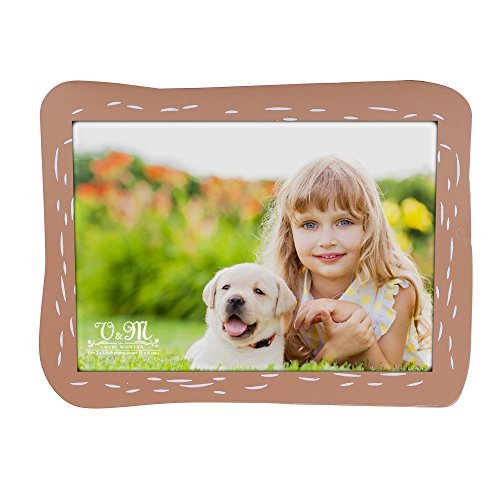 V&M VALERY MADELYN Baby Picture Frame Natural Wood 3 x 5 Picture Frames with Doggie Stands(Jack Russell Terrier) by V&M VALERY MADELYN (Image #4)