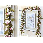 Lannu-2-Pack-Artificial-Rose-Vine-Flowers-Fake-Garland-Ivy-Flowers-Silk-Hanging-Garland-Plants-for-Home-Wedding-Party-Decorations-Cream-Pink