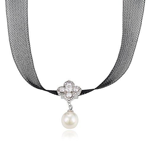 Xuping Choker Necklace Retro Burlesque Necklace Christmas M8-necklace-00133GW (Burlesque Jewellery)