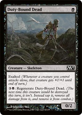 Card Duty (Magic: the Gathering - Duty-Bound Dead (92) - Magic 2013)