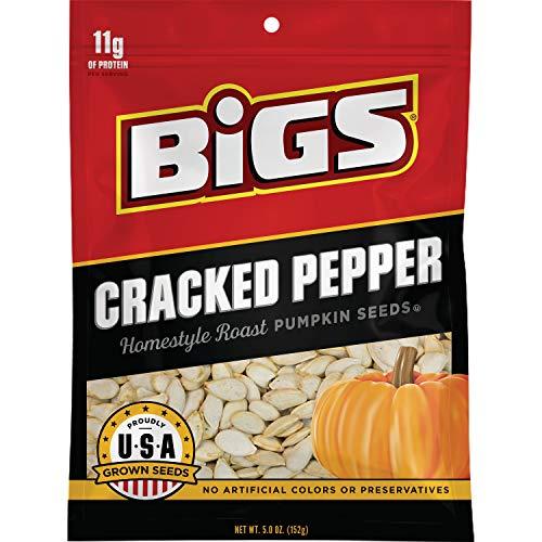 BIGS Cracked Pepper Homestyle Roast Pumpkin Seeds, 5-oz. Bag (Pack of 12) (Pumpkin Seeds Roast)