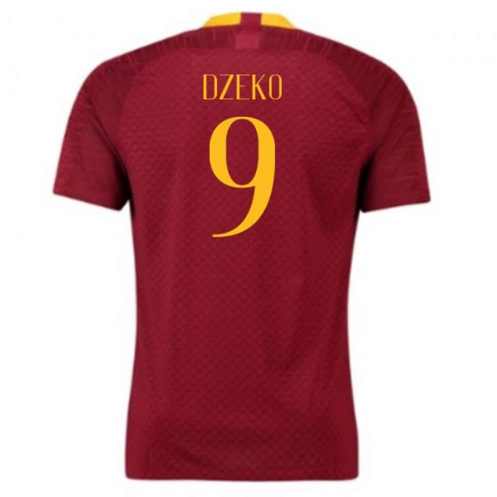 魅力の 2018-2019 AS Roma Home Nike Football Shirt Chest (Edin (104-112cm)|Red Dzeko Home 9) B07H9SBZXQ Large 42-44