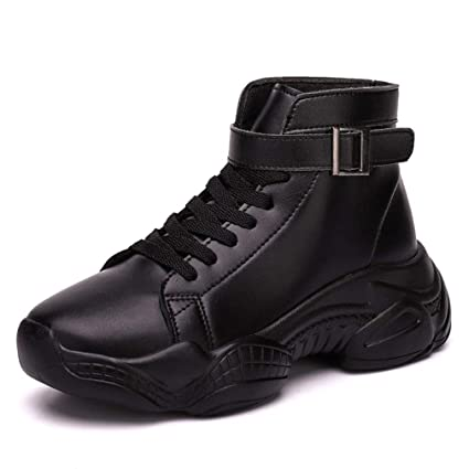43793a7f4d8c5 Amazon.com: YXB Women's Sports Shoes Spring Fall PU High-Top ...