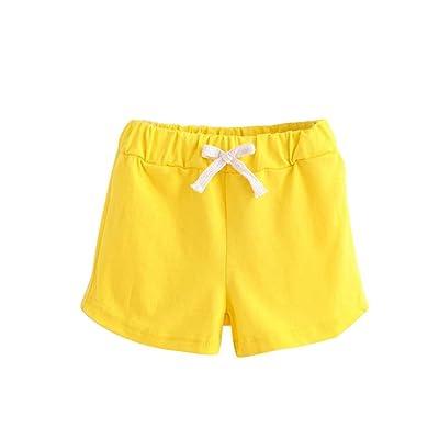 Longra Garçons Filles Short Pantalon Court Coton Coloré Mode Casual Pantalon Tether Vêtements D'été short de football été pour Enfant 2-6 ans Short en coton Mignon Pantalons de