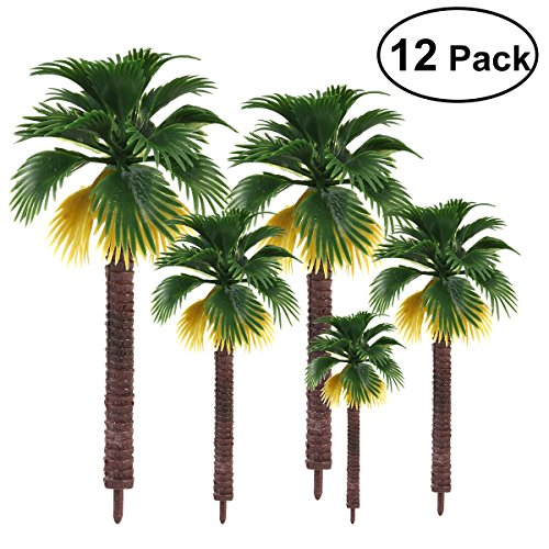 (TOYANDONA 12pcs Model Scenery Landscape Rainforest Palm Trees Park Street Diorama Scenery Layout Ornaments (The Color of Root is Random))