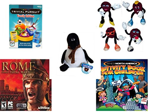 Children's Fun & Educational Gift Bundle - Ages 6-12 [5 Piece] - Includes: Game - Toy - Plush - Hardcover Book - Paperback Book - No. dbund-6-12-25472