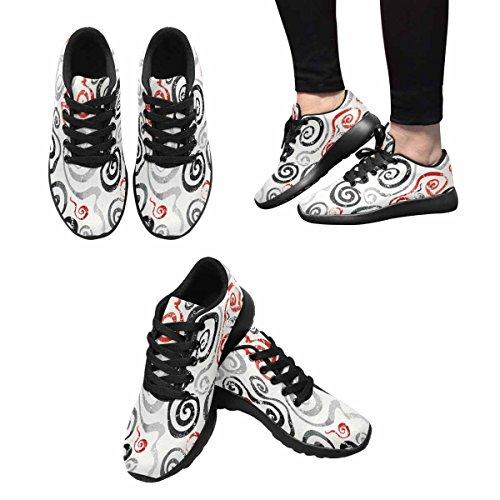 Interestprint Femmes Jogging Running Sneaker Léger Aller Confort De Marche Facile Sport Chaussures De Course Multi 1