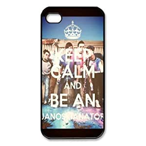 Pink Ladoo? iphone 4 4s Case Phone Cover Hard Plastic Keep calm AND Janoskians Pattern