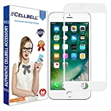 CELLBELL Tempered Glass Screen Protector For Apple iPhone 8 (5D)(White) With Installation Kit