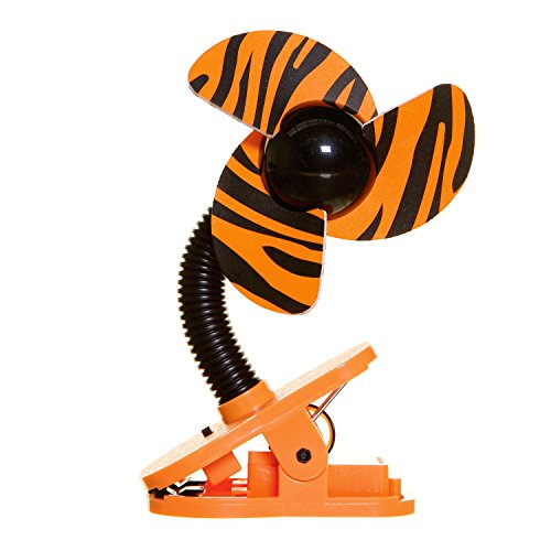 Tiger Battery - Tee-Zed Clip-On Fan Great for the Beach, Pool, Camping, Work, Lounging or Just Chillin'! - Tiger Design