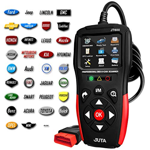JUTA JT600 Enhanced Universal EOBD OBD2 Scanner Fault Code Reader Check Engine Light Auto OBD-II CAN Diagnostic Scan Tool with Live Data (2019 Model)