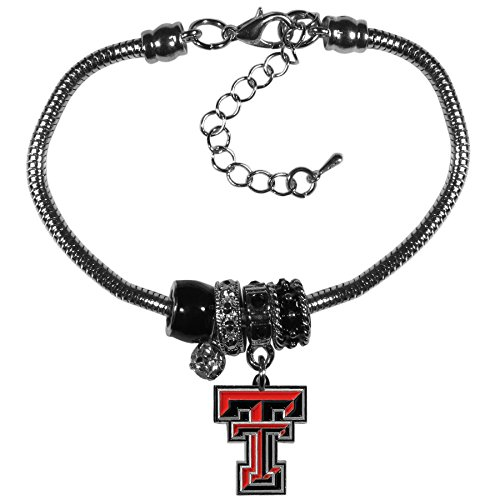 Tech Red Raiders 4 Light - Siskiyou NCAA Texas Tech Red Raiders Euro Bead Bracelet
