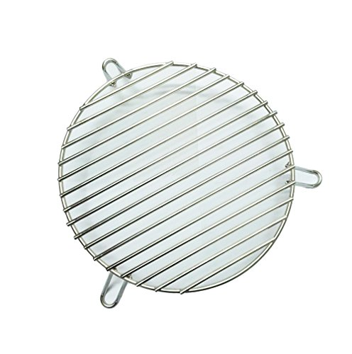 BBQ funland Stainless Steel Dual-Purpose Indirect Cooking Rack for 18-inch-diameter cooking grills