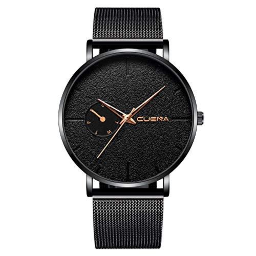 Men's Watches,Fxbar Minimalist Unique Men Business Wristwatch Nylon Strap Charm Bracelet Watches Dress Watch(D)