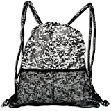 Very Strong Premium Quality Drawstring Backpack Gym Bag for Adults & Teens Flock